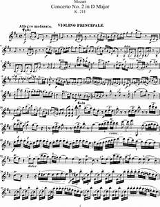 Violin Concerto No. 2 in D major, K. 211 (Wolfgang Amadeus ...