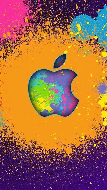 Apple Iphone Wallpapers Symbol 4k Splash Phone