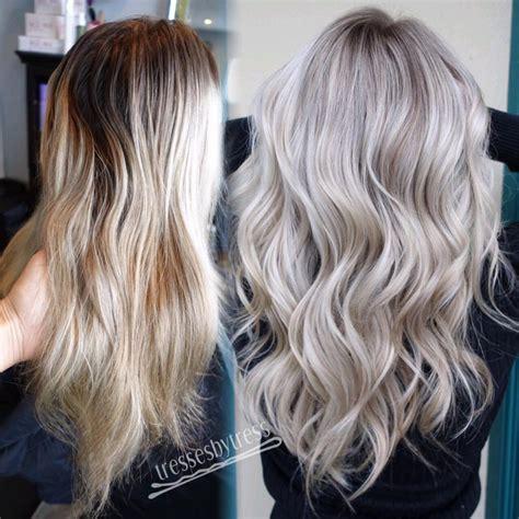 trendy hair color ideas  platinum blonde hair ideas