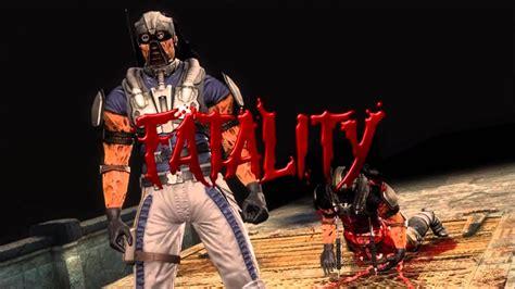 Mortal Kombat 9 Kabal Fatality 1, 2, Stage And Babality