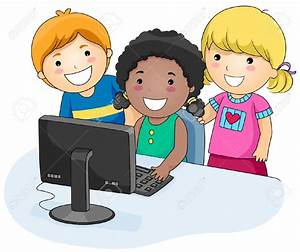 Computer clipart child computer - Pencil and in color ...