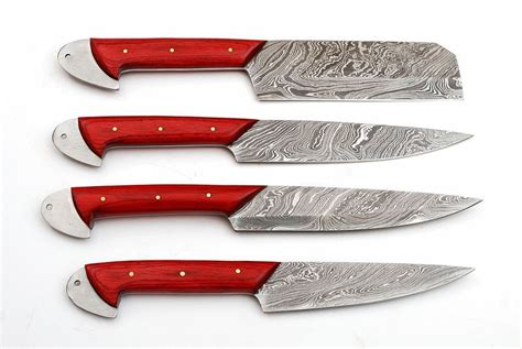 knife knives damascus handle hand kitchen knifefolks pieces leather bag door