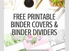 Free Printable Binder Dividers And Binder Covers Floral