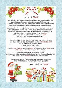 personalised letter from santa father christmas north With letter from santa north pole