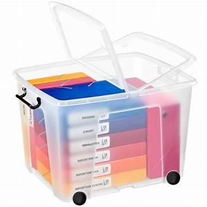 Boite De Classement Pas Cher : cep strata boite de rangement plastique avec roulettes 75 ~ Edinachiropracticcenter.com Idées de Décoration