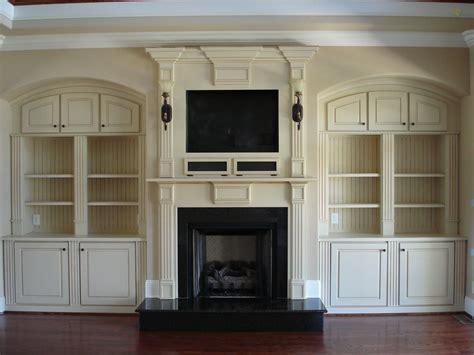bookcase built  bookshelves  fireplace living