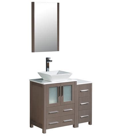 torino   gray oak modern bathroom vanity