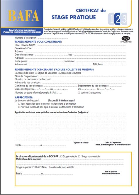 modele attestation de stage word modele certificat stage document