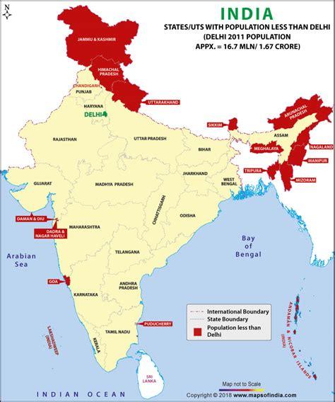 states  india   population  delhi