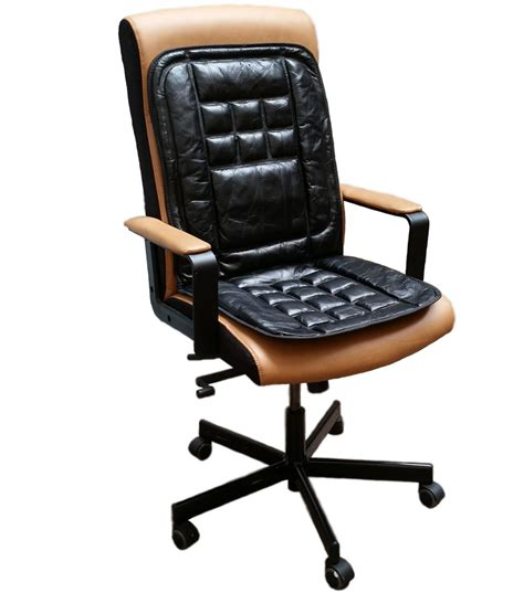 massaging office desk chair orthopaedic leather back support protect massage office