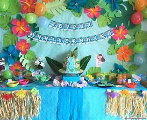 Decoration Anniversaire Fille : anniversaire vaiana d co sweet table et activit s faciles pour un anniversaire des les ~ Teatrodelosmanantiales.com Idées de Décoration