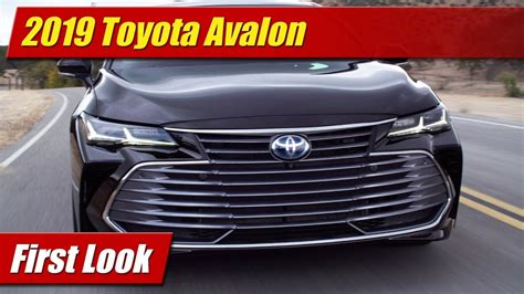 First Look 2019 Toyota Avalon Testdriventv