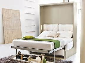 Diy Murphy Bunk Bed by Storage Wall With Pull Down Double Bed