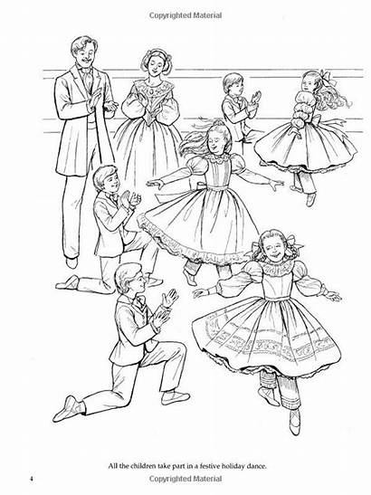 Coloring Nutcracker Pages Ballet Ballerina Dance Holiday