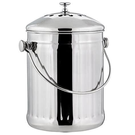 poubelle compost pour cuisine bioseau inox 3l ecovi