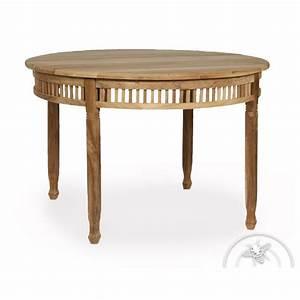 Table De Jardin Ronde En Bois : table de jardin ronde en bois teck chantilly saulaie ~ Dailycaller-alerts.com Idées de Décoration