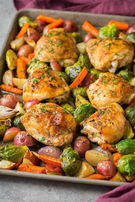 chicken vegetables pan sheet roasted root recipes cooking classy need
