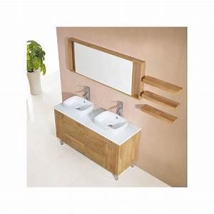 Meuble Salle De Bain Bois Naturel : meuble salle de bain de luxe en bois massif ref sd619 41bn coloris bois naturel ~ Teatrodelosmanantiales.com Idées de Décoration