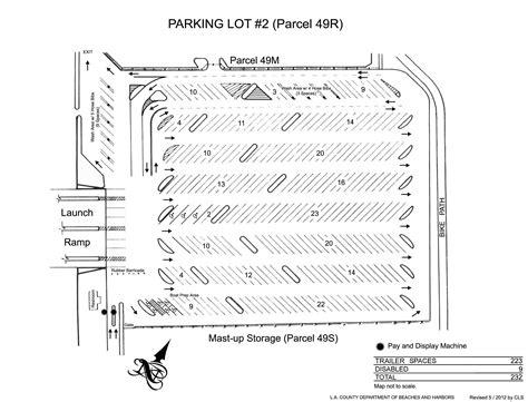 marina del rey parking lots beaches harbors