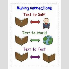 8 Best Teaching  Making Connections Images On Pinterest  Teaching Reading, Reading And Reading