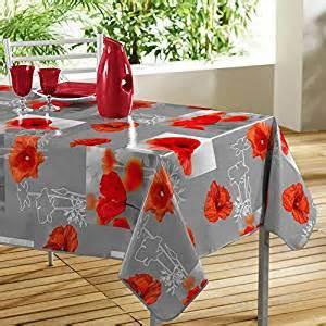 wetterfeste outdoor wachstuch tischdecke quot great With balkon teppich mit tapete mit mohnblumen