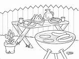 Bbq Coloring Pages Colouring Preschool Grill Para Sketch Colorear Barbecue Printable Dibujos Sheets Template Adult Sketchite Class English Activities Guardado sketch template