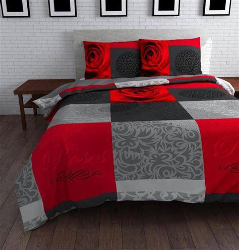 dekbed met rood flanellen dekbedovertrekken rood nodig alle prijzen van