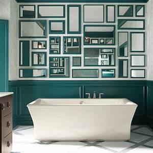 Décoration Murale Salle De Bain : une murale de miroirs pour la salle de bain salle de bain inspirations d coration et ~ Teatrodelosmanantiales.com Idées de Décoration