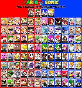 Mario VS Sonic Fighting Game Roster By EpicCartoonsFan On