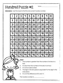 board number puzzles math enrichment activities