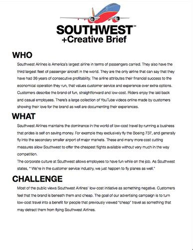southwest airlines creative  page   vcu