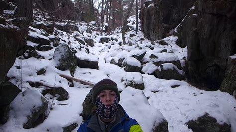 winter hiking adventure  taylors falls minnesota