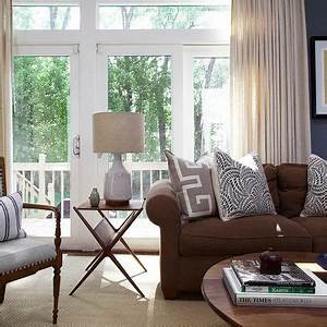 decorating with a brown sofa With brown couches living room design
