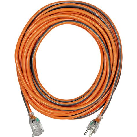home depot l cord ridgid 50 ft 12 3 sjtw extension cord with lighted plug