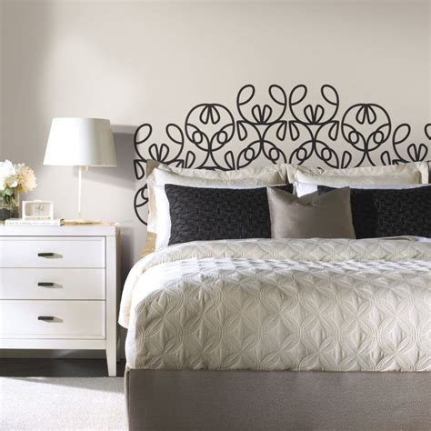 make your own diy headboard in minutes with removable headboard wall decals designed by