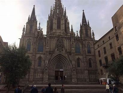 Barcelona Gothic Churches Cathedral Quarter Architecture Christmas