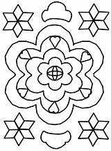 Rangoli Coloring Pages Printable Bestcoloringpagesforkids Clipartmag Detailed Flower sketch template