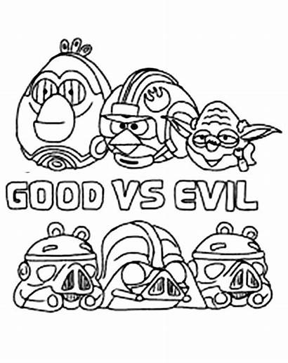 Star Angry Birds Coloring Wars Evil Pages