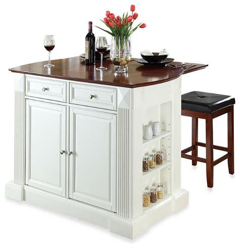 square kitchen island crosley drop leaf breakfast bar top kitchen island with
