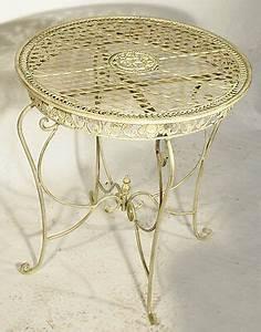 Gartentisch Metall Antik : gartentisch metall rund ~ Watch28wear.com Haus und Dekorationen