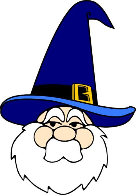 wizard in blue hat clip art at clker com vector clip art