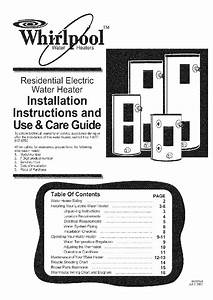 Whirlpool E1130h025s Water Heater Installation Manual Pdf