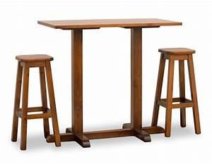 Bar Tische Und Stühle : bar tisch mit zwei s ulen ganz in kiefer idfdesign ~ Bigdaddyawards.com Haus und Dekorationen