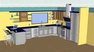 Farben Für Küche : sketchup k che design und k che schrank design ideen kombiniert mit verschiedenen farben und ~ Orissabook.com Haus und Dekorationen