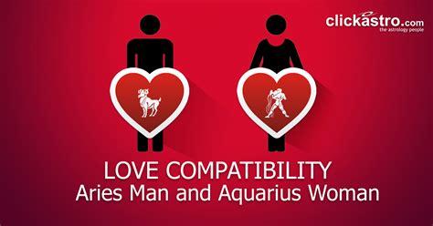 aries man  aquarius woman love compatibility