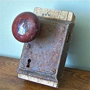 Cool old door knob and lock for shelf | old door knobs ...
