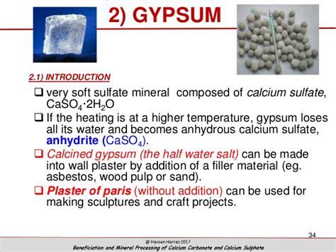 beneficiation  mineral processing  calcium carbonate