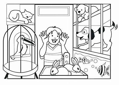 Coloring Pets Pet Pages Esther Sheet Animal