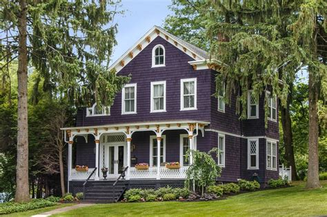 purple victorian home purple exterior paint colors