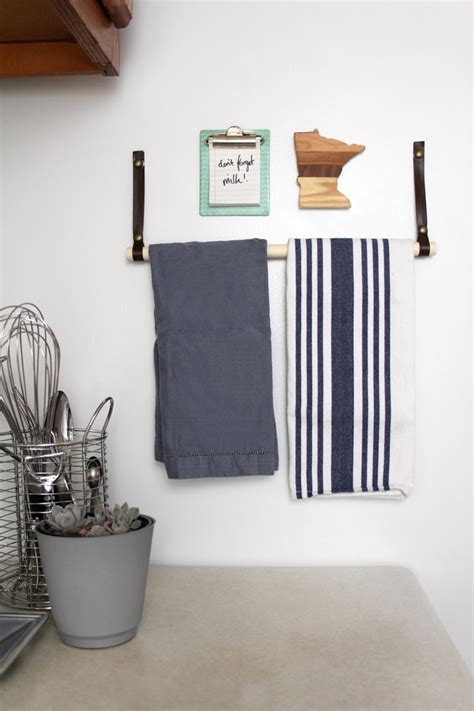 diy magnetic paper towel holder curbly
